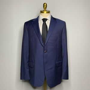Hickey Freeman Milburn Fit Blazer - Solid Blue 42R